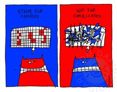 Strive For Complex by www.gapingvoidart.com