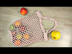 En Kolay File Çanta Yapımı / Alışveriş Filesi / DIY Shopping Bag - YouTube Crochet Handbags, Crochet Bags, Knit Crochet, Diy Bags Purses, Diy Purse, Hello Kitty Bag, Halloween Bags, Net Bag, Macrame Bag