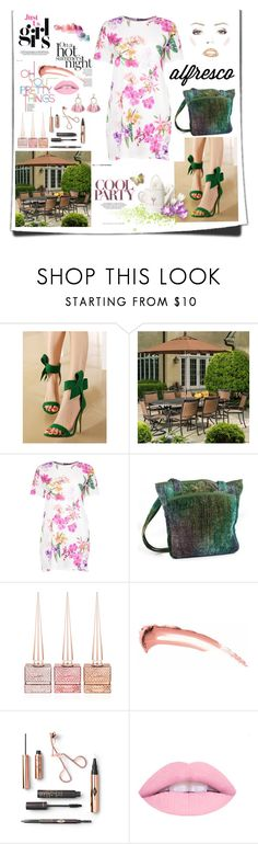 """Dining out!"" by archsan ❤ liked on Polyvore featuring WithChic, Alfresco Home, Boohoo, NOVICA, Christian Louboutin, L.A. Girl, SUGARFIX by BaubleBar and alfrescodining"