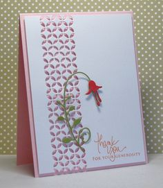 card  by Rosemary D., via Flickr... luve the use of negative die cut space from border die...