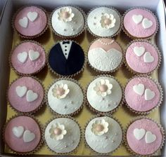Tux and Dress Cupcakes