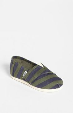 TOMS 'Classic Tiny - Stripe' Slip-On (Baby, Walker & Toddler)(Limited Edition) available at #Nordstrom