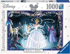 Amazon.com: Ravensburger Disney Collector's Edition Cinderella 1000 Piece Jigsaw Puzzle for Adults - Every Piece is Unique, Softclick Technology Means Pieces Fit Together Perfectly: Varios: Toys & Games