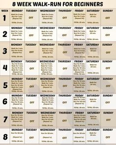 Learn to run Beginner walk to run printable Running Challenge, Running Plan, Running On Treadmill, Workout Challenge, Walking Challenge, June Challenge, Workout Log, Running Tips, Workout Ideas