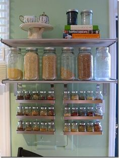 DIY Spice Rack! Easy Access, Doesnu0027t Take Up Room In The Cupboards! And  Theyu0027re All Easy To See | Spice Storage | Pinterest | Diy Spice Rack,  Cupboard And ...