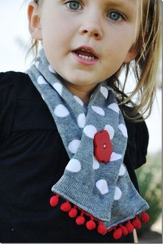 handmade-toddler-gifts..toddler scarf made from women's knee high sock...cutest thing EVER!!