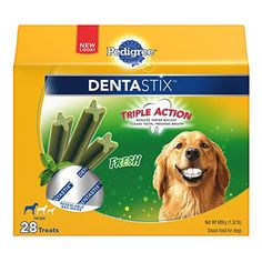 PEDIGREE DENTASTIX Large Dog Chew Treats Fresh 28 Treats ** Visit the image link more details. (This is an affiliate link)
