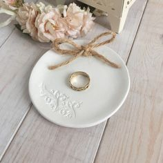 Personalised clay ring dish £11.50