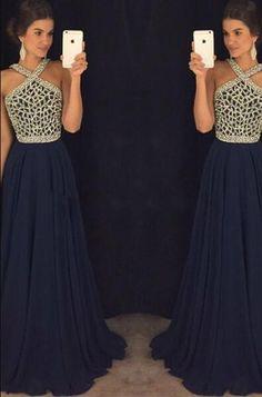 Chiffon Prom Dress,Sexy Sleeveless Prom Dress,Beading Prom Dress,Simple Open Back Prom Dresses,Chiffon Sexy Party Dress