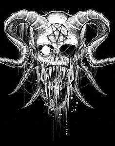 Art of horror blood guts n gore Arte Horror, Horror Art, Dark Fantasy, Fantasy Art, Vegito Y Gogeta, Bauch Tattoos, Satanic Art, Evil Art, Dark Drawings