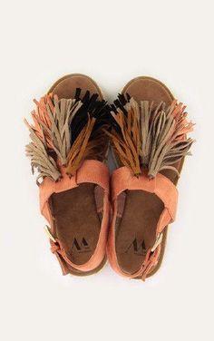 Sandales à franges Saumon Vanessa Wu