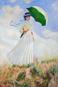 I just ordered this today. Can hardly wait to get it. Woman with a parasol (Monet)