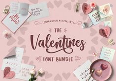 The Valentine's Font Bundle 24 fonts from 15 families off for a limited time!