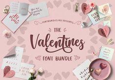 The Valentines Font Bundle | Font Bundles