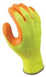 SHOWA™ Size 10 Atlas Hi-Viz Grip® 317 10 Gauge Abrasion Resistant Hi-Viz Orange Natural Latex Palm And Fingertip Coated Work Gloves With Hi-Viz Yellow Cotton And Polyester Knit Liner And Elastic Cuff