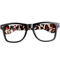 Vintage Retro Leopard Prints Glasses Frame