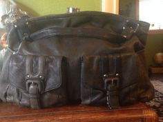 Vintage Kenneth Cole Leather Hand Bag... Leather by SwampandRoll
