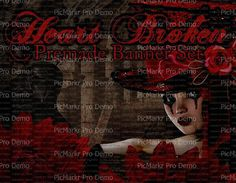 Premade Shop Banner Set  Premade Etsy Banner by LalipopsandDaisies #bannerset #premadebannerset #etsyshopbanners  #gothic #darkness #red  #graphics #downloads #etsy