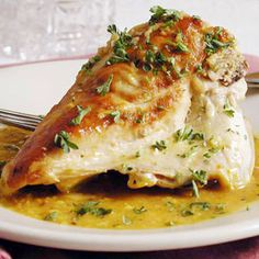 Chicken in Garlic Sauce from MyRecipes.com #myplate #protein