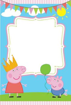 Peppa party, peppa pig, peppa and george, peppa la cerdita, george pig. Peppa Pig Happy Birthday, Peppa Pig Birthday Invitations, Pig Birthday Cakes, Happy Birthday Cards, Peppa Pig Printables, Peppa Pig Teddy, Cumple Peppa Pig, 2 Year Old Birthday Party, Pig Party