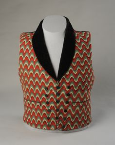Waistcoat | American | early 19th century | wool | American Textile History Museum | Accession #: 2007.143.1