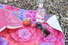 DIY Picnic Blanket tutorial. Use quilting cotton prints like Amy Butler fabric, Michael Miller Fabric and Koel Dewberry fabric with cotton water-repellent canvas backing. Photo Credit: Aimee of Clones N Clowns