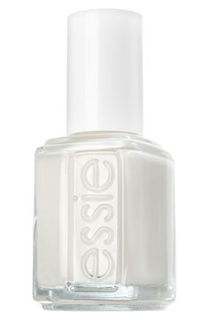 "From Shop the Video: Beauty Mark—Hanneli Mustaparta's ""Marriage Equality"" Nail Art  Essie Nail Polish in Blanc, $8"