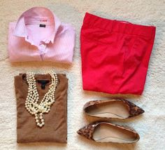Jacquelyn Grace.: Berry pink! Business Casual. Office Style. Work outfits. Cubicle looks. J.Crew.