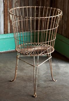 Wire Egg Basket on stand