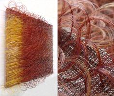 Marrianne Kemp horsehair weaving 'Raggiana' 2014 Weaving Textiles, Weaving Art, Loom Weaving, Textile Texture, Textile Art, Textile Courses, Types Of Weaving, Creative Textiles, Passementerie