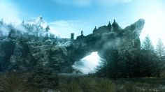 The stone halls of Solitude from The Elder Scrolls V: Skyrim | 36 Beautiful Landscapes That Prove That Video Games Are Art
