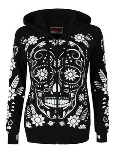 Sugar skull hoodie to make