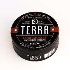 Kiva Confections - Terra Bites Expresso Beans coated in Medicated Chocolate. Each bite contains 5mg of THC. #mmj #edibles #cc101