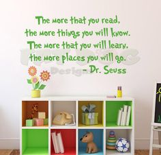 Dr. Seuss The More That You Read Removable by FatDogDesignsStore