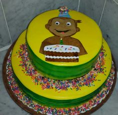 Curious George 1st birthday cake