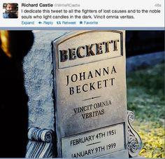 For Johanna Beckett - Truth conquers all. || Brb sobbing