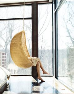 Using wicker to add a little something to your design. Image via Apartment Therapy