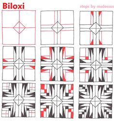 Biloxi-tangle pattern by molossus, who says Life Imitates Doodles, via Flickr