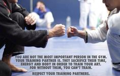 How To Be A Good Training Partner