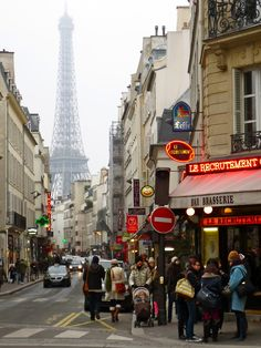 newsweek-paris-france:    Rue Saint Dominique on Wednesday. Just a typical Paris scene this time of year.
