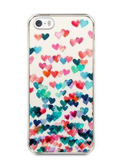 Capa Iphone 5/S Corações Coloridos - SmartCases - Acessórios para celulares e tablets :)