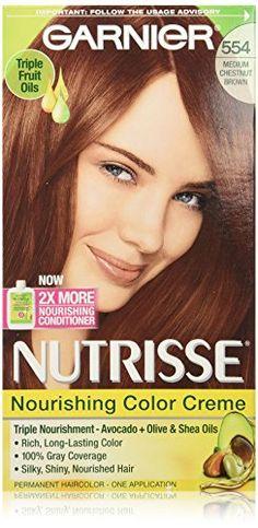 Garnier Nutrisse Nourishing Color Creme, 554 Medium Chestnut Brown ** See this great image @