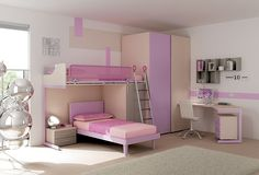 Kids Zone, Interior S, Pastel Pink, Girl Room, Bunk Beds, Home Office, Entryway, Room Decor, Sofa
