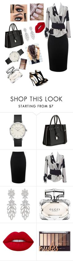 """Untitled #75"" by mirajounimj ❤ liked on Polyvore featuring Yves Saint Laurent, Alexander McQueen, Emporio Armani, Gucci and Lime Crime"