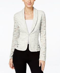 INC International Concepts Lace Blazer, Only at Macy's - Jackets & Blazers - Women - Macy's