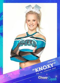 Knoxy I just started watching 'cheer squad' on Netflix and it's so good! Especially if youre a cheerleader yourself Melody x Cheerleading Cheers, Cheer Stunts, Cheer Dance, Cheerleading Makeup, Competitive Cheerleading, Cheerleading Outfits, Cheer Picture Poses, Cheer Poses, Famous Cheerleaders