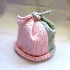 Knitting For Children / Top Knot baby hat