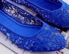 Flat Blue Wedding Shoespopular Items For Lace Flat Shoes On Etsy Rzgncpq
