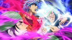 Toriko ~~~ A gorgeous threesome bursting with power to protect and defend food. ...be still my heart...