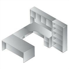 OSP Furniture Sonoma Right U-Shape Desk Office Suite | Wayfair